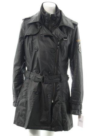 Khujo Trenchcoat schwarz klassischer Stil