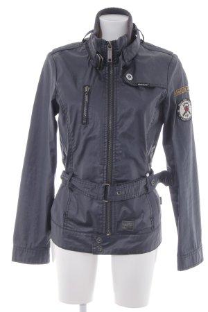 Khujo Übergangsjacke dunkelblau Biker-Look