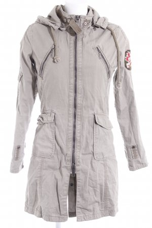 Khujo Übergangsjacke graugrün Street-Fashion-Look