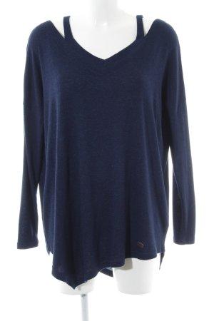 Khujo V-Ausschnitt-Pullover blau Casual-Look