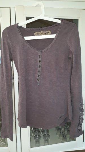 Khujo Vintage Gehaakt shirt lila Katoen