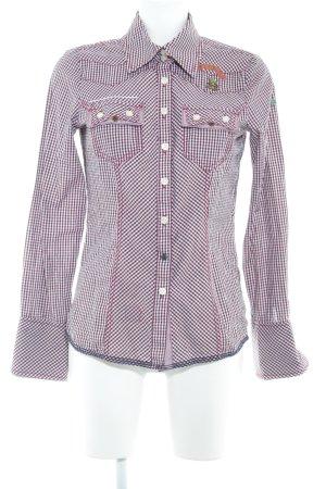 Khujo Vintage Hemd-Bluse Karomuster Country-Look
