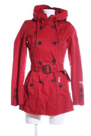 Khujo Vintage Capuchon jas rood casual uitstraling