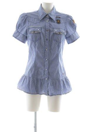 Khujo Vintage Kurzarmhemd Streifenmuster extravaganter Stil