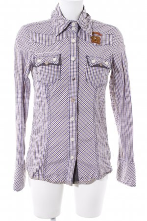 Khujo Vintage Langarmhemd Karomuster Casual-Look