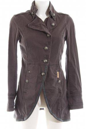 Khujo Vintage Giacca lunga marrone stile casual