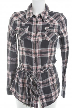 Khujo Vintage Long-Bluse Karomuster Casual-Look