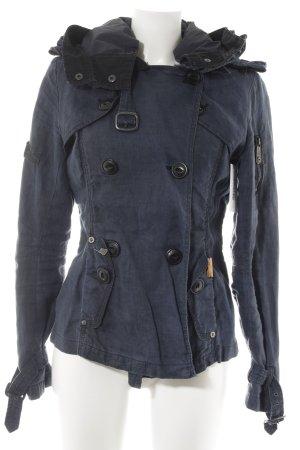 Khujo Vintage Übergangsjacke dunkelblau Casual-Look
