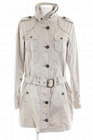 Khujo Vintage Übergangsmantel wollweiß Casual-Look