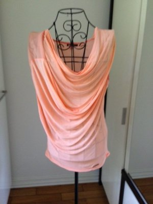 Khujo Wasserfall Shirt / Top Gr 36/S, hell-neon Orange, NP 45 €