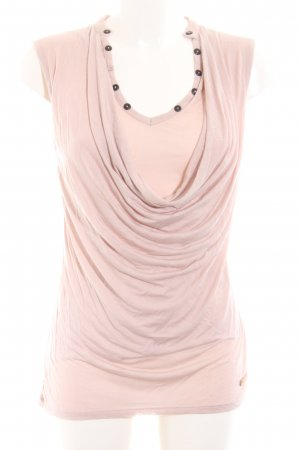 Khujo Cowl-Neck Top pink casual look