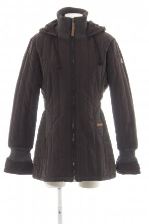 Khujo Winter Jacket brown quilting pattern casual look