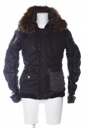 Khujo Winterjacke schwarz Steppmuster Casual-Look