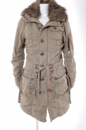 Khujo Winterjacke beige Casual-Look
