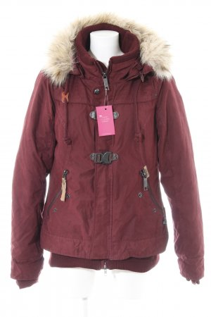 Khujo Winterjacke bordeauxrot Casual-Look