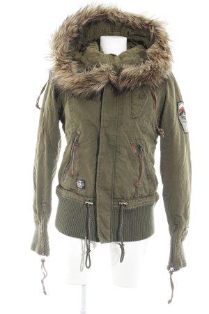 Khujo Winterjacke khaki-grün Casual-Look