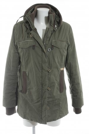 Khujo Winterjacke khaki Materialmix-Look