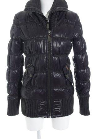 Khujo Veste d'hiver noir style décontracté