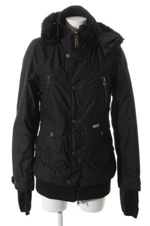 Khujo Winterjacke schwarz sportlicher Stil
