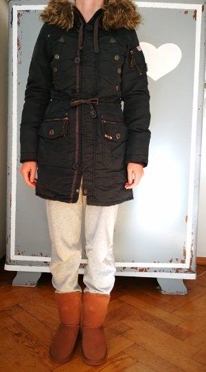 Khujo Winter Coat dark blue