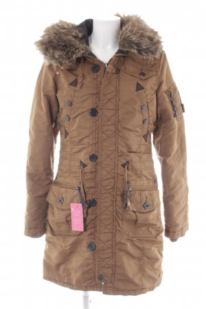 Khujo Wintermantel hellbraun Casual-Look