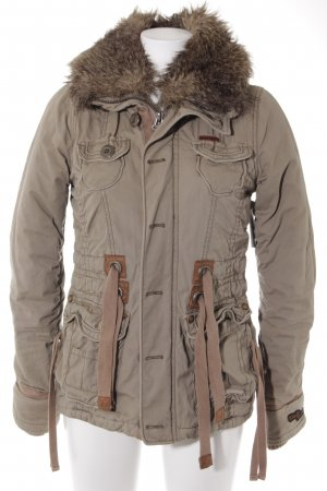 Khujo Wintermantel khaki-hellbraun Casual-Look