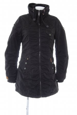 Khujo Wintermantel schwarz Casual-Look