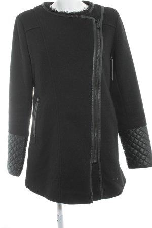 Khujo Cappotto in lana nero stile casual
