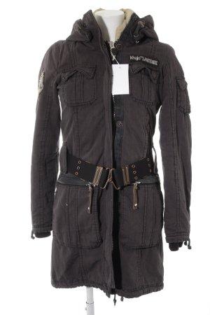 Khujo Wool Coat taupe extravagant style