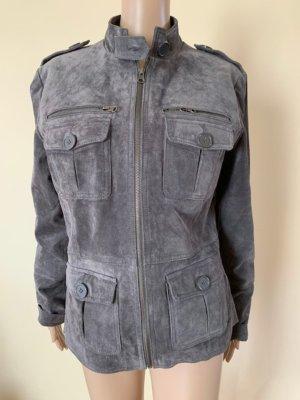 Kiabi Woman Leather Jacket dark grey