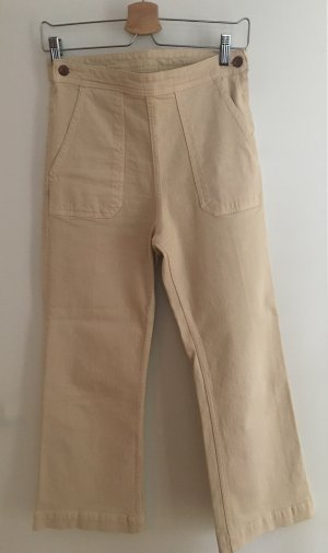 H&M High Waist Jeans cream