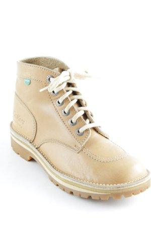 Kickers Schnürstiefel beige Casual-Look