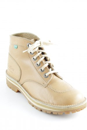 Kickers Lace-up Boots beige casual look