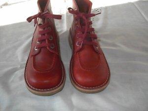 Tronchetto rosso scuro-rosso mattone Pelle