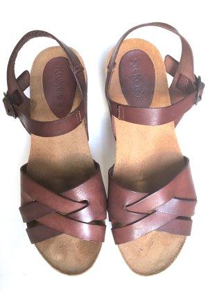 "KicKers "" Toka braun "" Sandaletten Sandalen Sommer Schuhe 39 * neuwertig Leder kleiner Absatz * neuwertig"