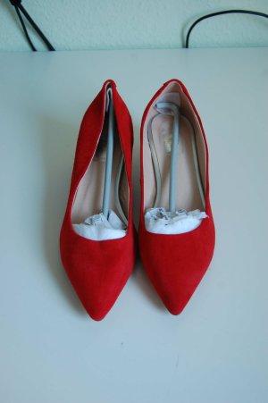 Kidleder Ballerina Pumps, Rot, Gr 40.5