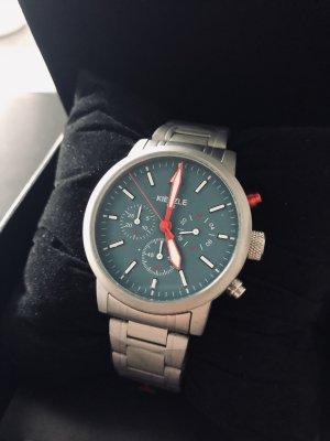 Kienzle Reloj con pulsera metálica azul cadete-color plata acero inoxidable
