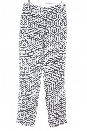 Kilian kerner Marlene Trousers black-white abstract pattern elegant