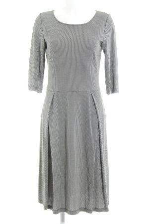 Kilian Kerner Senses A-Linien Kleid hellbeige-schwarz Allover-Druck 80ies-Stil