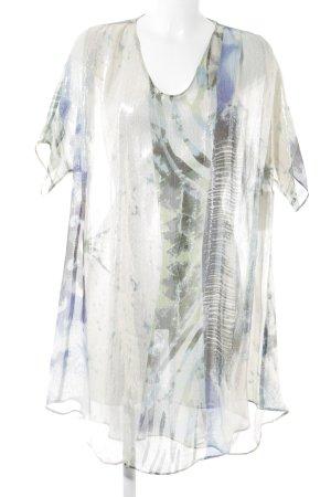 Kilian kerner Transparenz-Bluse abstraktes Muster Metallic-Optik