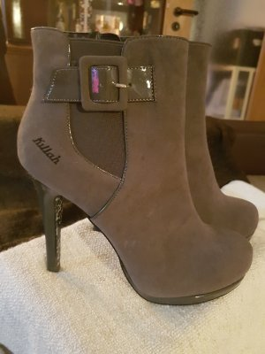 Killah Zipper Booties silver-colored imitation leather