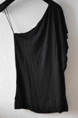 KILLAH asymmetrisches Jerseytop, schwarz, Gr S