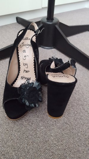 Killah black velvet platform sandals, size 37