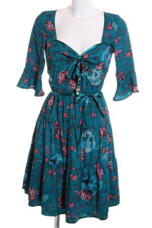 Killah Blusenkleid blau-pink abstraktes Muster Street-Fashion-Look