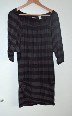 KILLAH by Miss Sixty Minikleid/ Oversized Longshirt S, wie 36/38, braun-schwarz