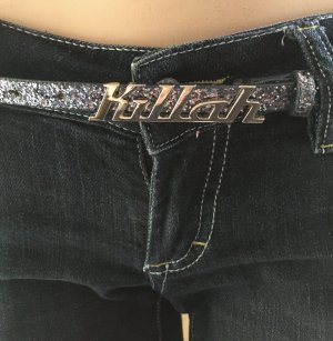Killah Hip Belt blue-silver-colored