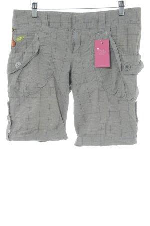Killah High-Waist-Shorts graubraun Blumenmuster schlichter Stil