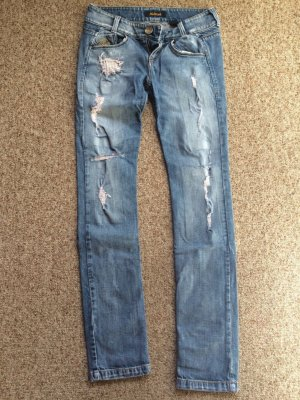 Killah Jeans 26 Usedlook Löscher hellblau