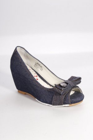 Killah Peeptoe Pumps aus Denim