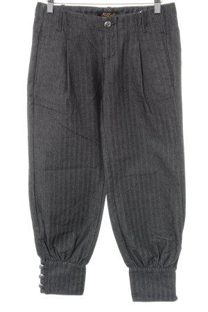 Killah Pantalon large gris foncé Motif de tissage style décontracté